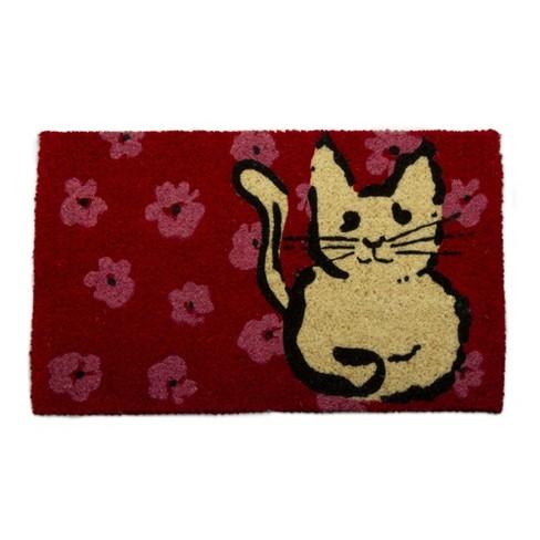TAG At Home Cat Coir Doormat Indoor Outdoor Welcome Mat Pet - image 1 of 4