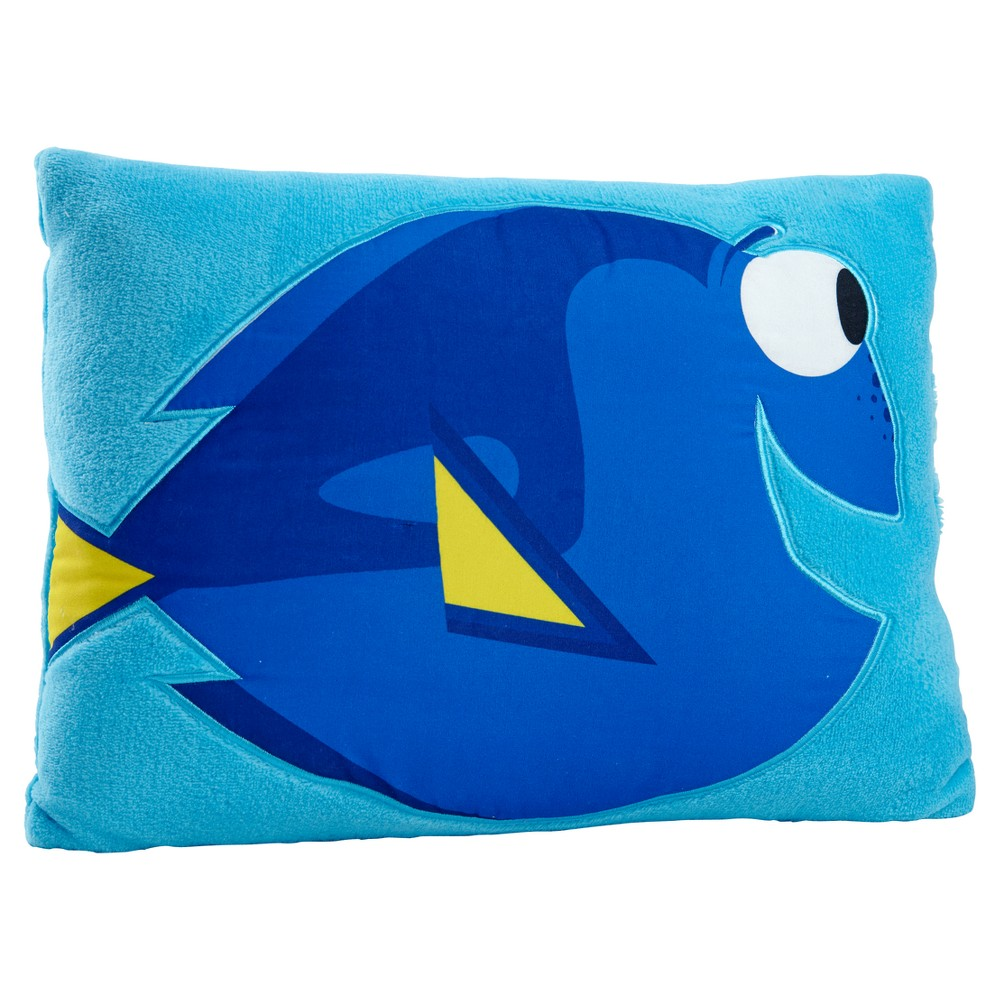 "Image of ""Finding Dory Blue Throw Pillow (16""""x12"""")"""