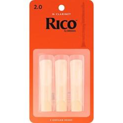 Rico Bb Clarinet Reeds, Box of 3