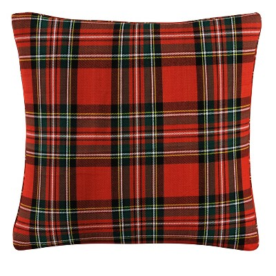 Red Plaid Throw Pillow - Skyline Furniture