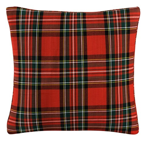 Red Plaid Throw Pillow - Skyline Furniture - image 1 of 4