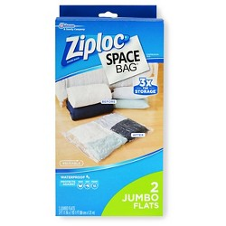 Ziploc Space Bag, Jumbo Flats, 2ct