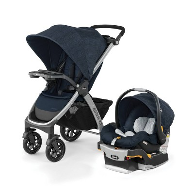 Chicco Bravo 3-in-1 Quick Fold Travel System - Brooklyn