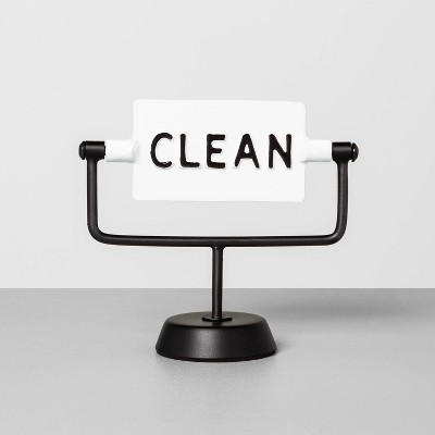 Clean / Dirty Reversible Sign Sour Cream - Hearth & Hand™ with Magnolia