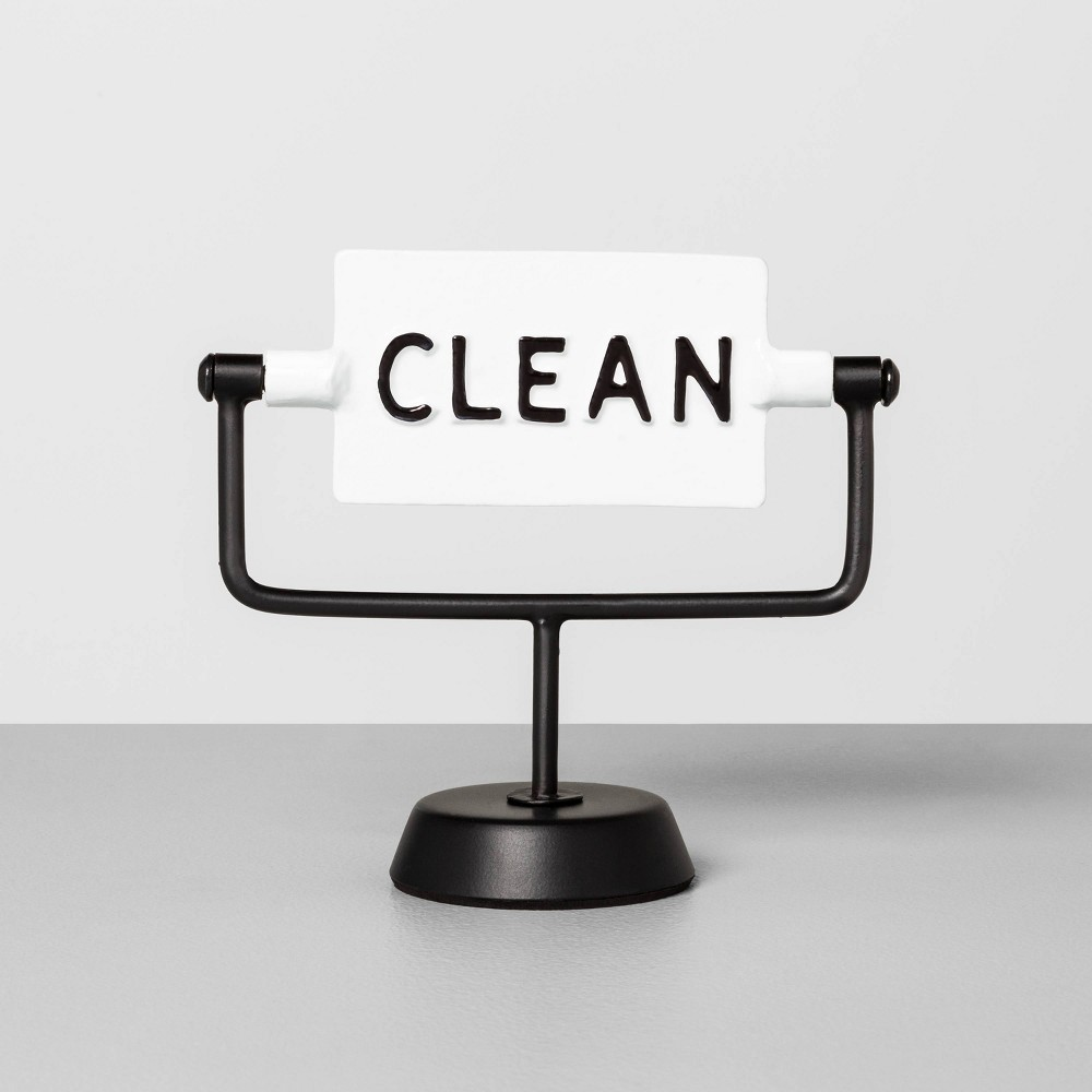 Image of Clean / Dirty Reversible Sign Sour Cream - Hearth & Hand with Magnolia