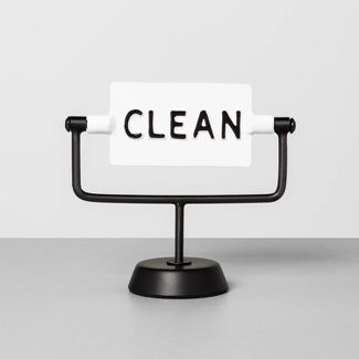 'Clean / Dirty' Reversible Sign White/Black - Hearth & Hand™ with Magnolia