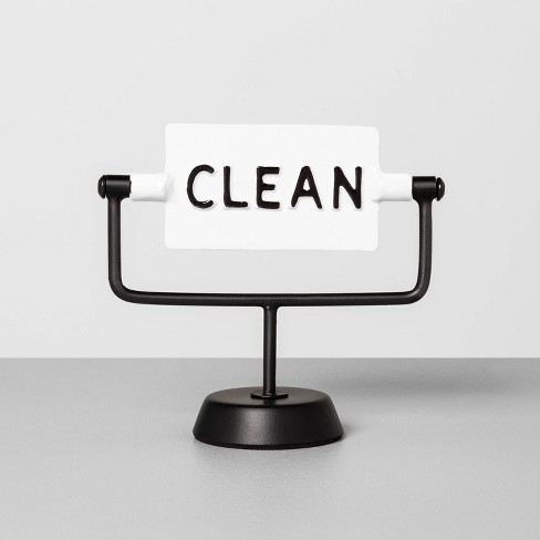 'Clean / Dirty' Reversible Sign White/Black - Hearth & Hand™ with Magnolia - image 1 of 3