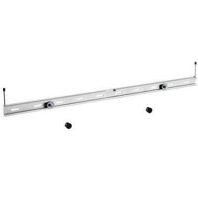Monoprice Universal Soundbar Wall Mount Bracket Aluminum Mount For Mounting Sound Bar Above or Under TV, Fits Most of Sound Bars up to 33lbs