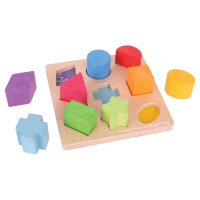 Bigjigs Toys First Shapes Sorter Wooden Developmental Toy