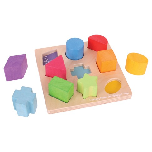 Bigjigs Toys First Shapes Sorter Wooden Developmental Toy - image 1 of 2