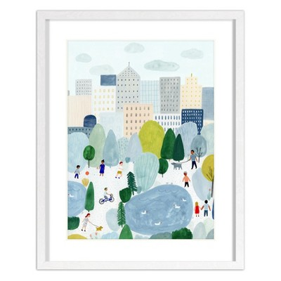 16 x20  Kate Pugsley City Scene Framed Wall Poster Print - Project 62™