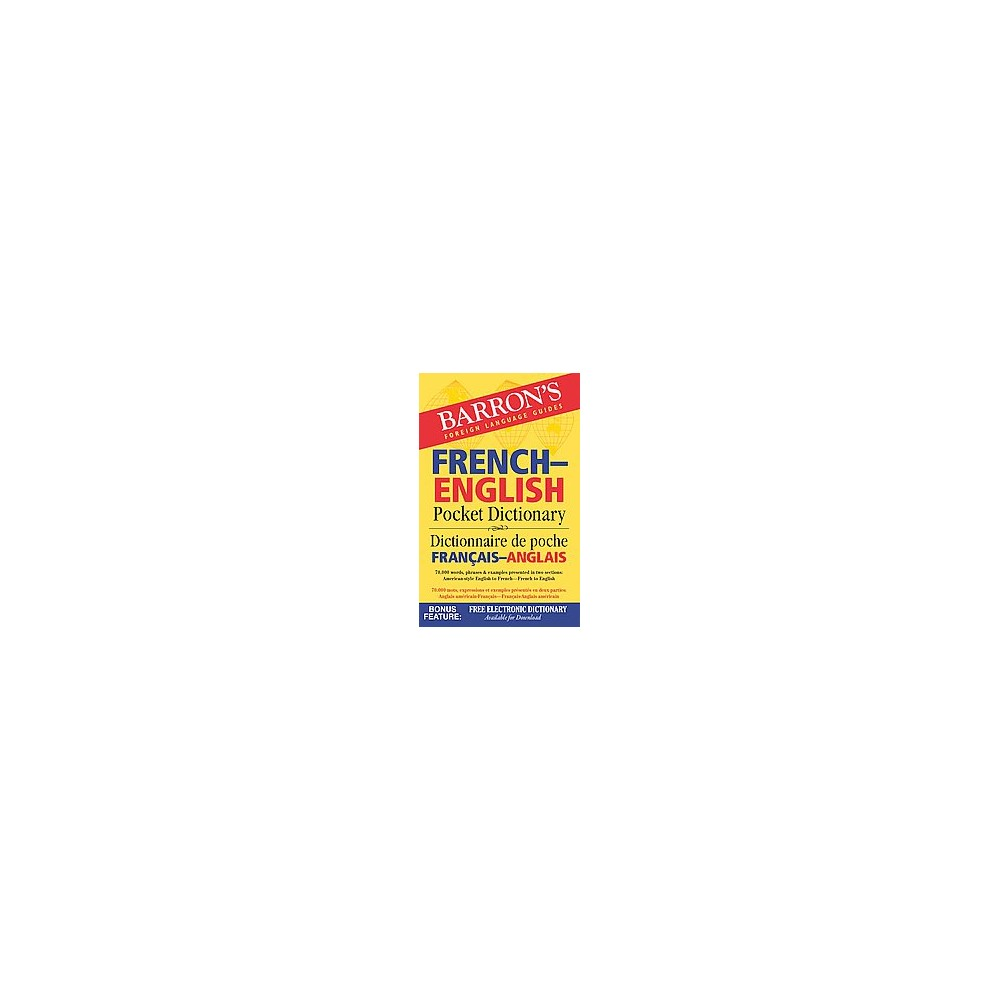 Barron's French-English Pocket Dictionary (Bilingual) (Paperback)