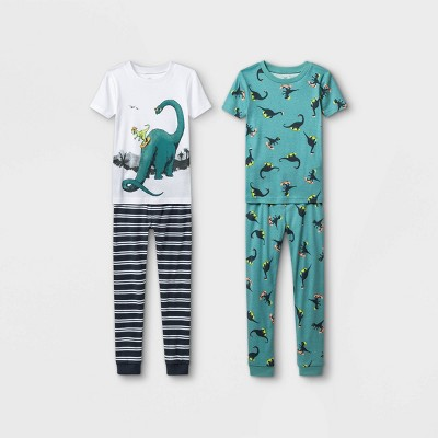 Boys' 4pc Dino Pajama Set - Just One You® made by carter's Sage Green