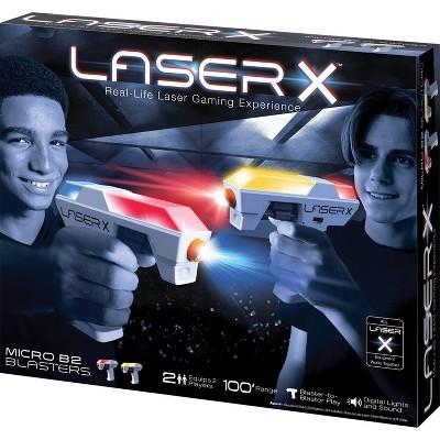 Laser X Two Player Micro B2 Blaster Laser Tag Gaming Set