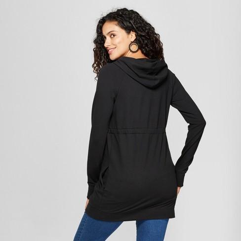 9b6f0282 Maternity Long Sleeve Zip Hoodie - Isabel Maternity By Ingrid & Isabel™  Black : Target