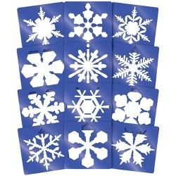 Roylco Super Snowflake Stencil, 8 Inches Diameter, set of 12 Stencils