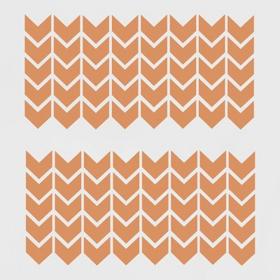 Chevrons Removable Wall Decal Orange Dream - Room Essentials™