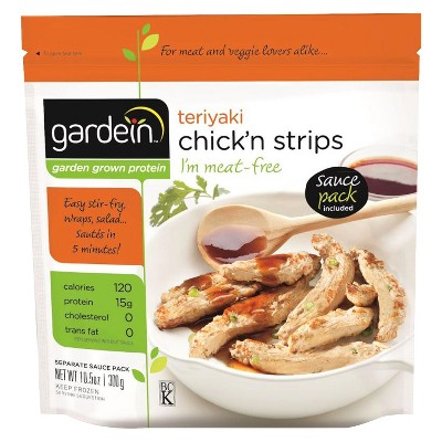 Gardein Teriyaki Meat Free Frozen Chick'n Strips   10.5oz by Gardein