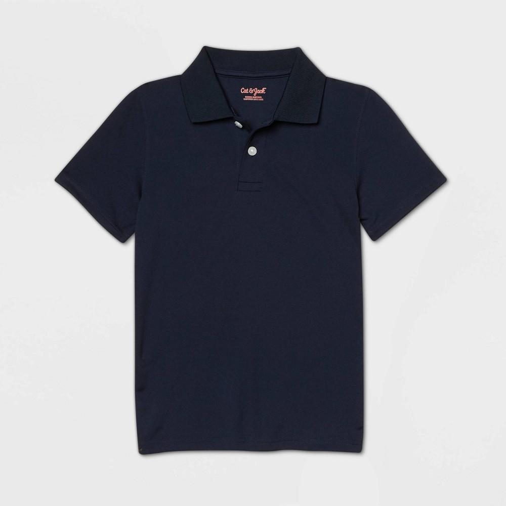 oversizeBoys Short Sleeve Performance Uniform Polo Shirt - Cat & Jack Navy XXL Husky Blue