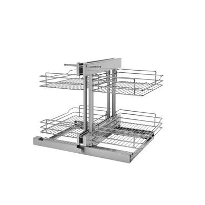 Rev-A-Shelf 5PSP Soft Close Blind Corner 4 Shelf Slide Out Kitchen Cabinet Organizer