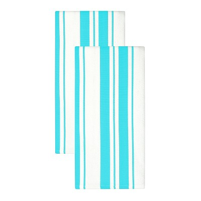 2pk Aqua Kitchen Towel (20 x 30 )- MUkitchen