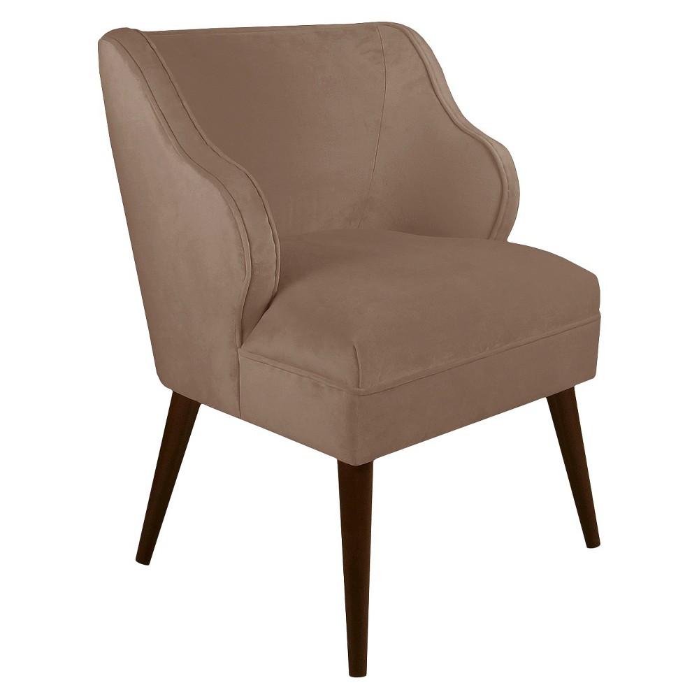 Mandolene Mid-Century Arm Chair Velvet Cocoa - Project 62