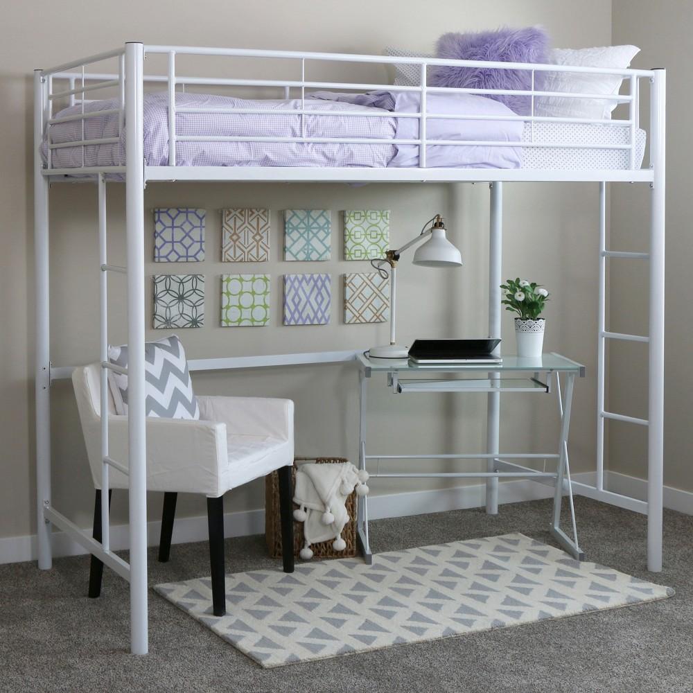 Image of Bed Frame White - Saracina Home