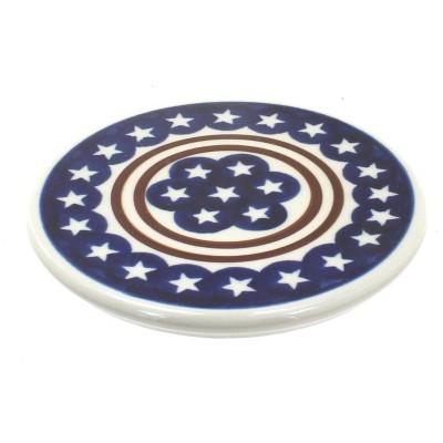 Blue Rose Polish Pottery Stars & Stripes Trivet