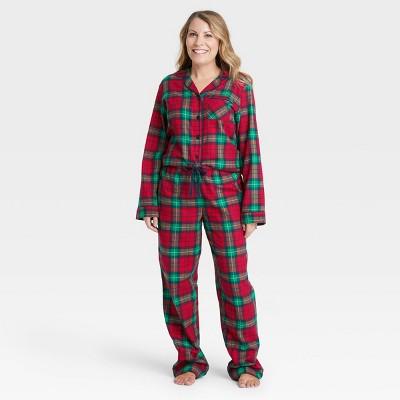Women's Holiday Plaid Flannel Matching Family Pajama Set - Wondershop™ Red