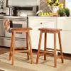 Saddle Seat Barstool Set - Oak (Set of 2) - Inspire Q - image 2 of 3