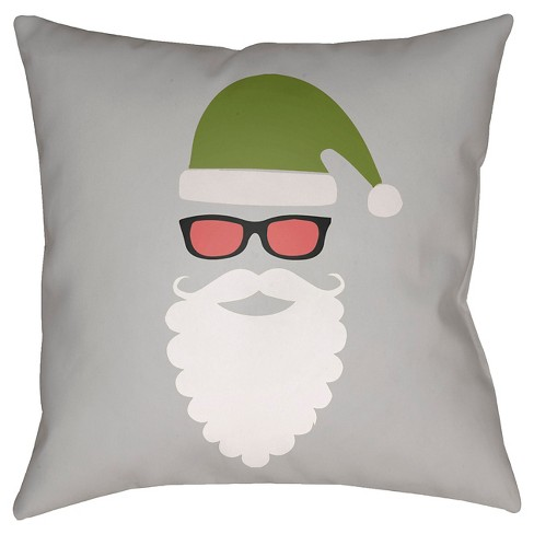 Cool Santa Throw Pillow - Surya - image 1 of 1