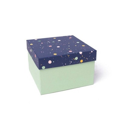 Small Square Dotted Gift Box Blue - Spritz™