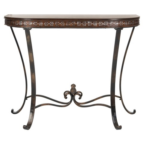 Console Table Brown Copper - Safavieh - image 1 of 4