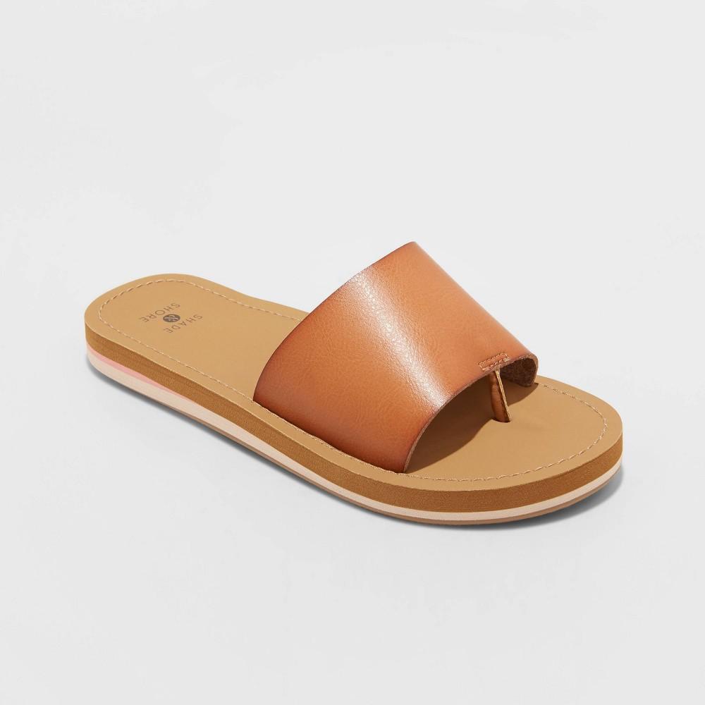 Women 39 S Donna Slide Sandals Shade 38 Shore 8482 Tan 8