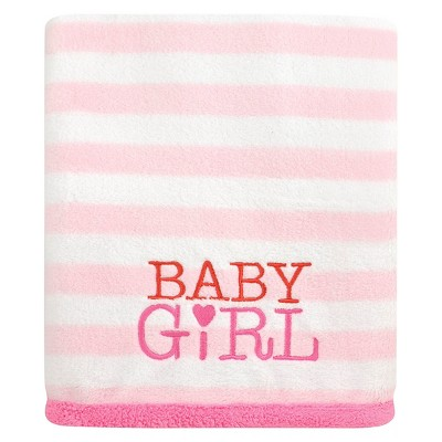 Baby Girls' Stripe Fluffy Fleece Blanket - Just One You™ Made by Carter's® Pink
