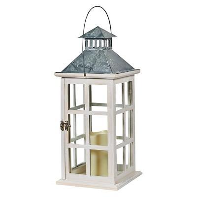 "Smart Living Camden 16"" LED Candle Outdoor Lantern - Antique White"