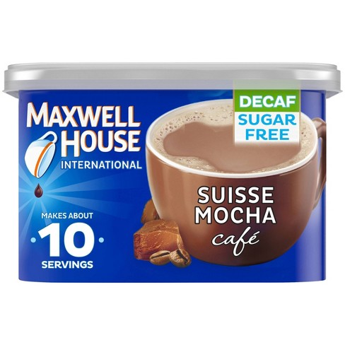 Maxwell House International Café Espresso Roast Suisse Mocha Beverage Mix - Decaf - 4oz - image 1 of 4