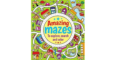 Amazing Mazes to Explore, Search and Color (Paperback) - image 1 of 1