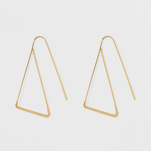 Triangle Threader Earrings - A New Day™ Gold - image 1 of 1