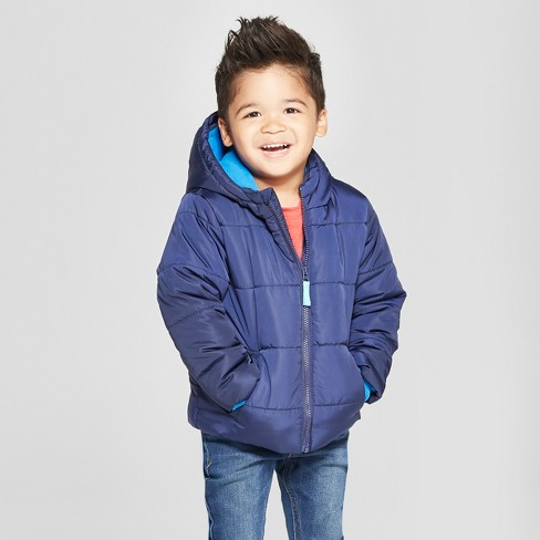 81fc0c80cce4 Toddler Boys  Puffer Jacket - Cat   Jack™ Blue   Target