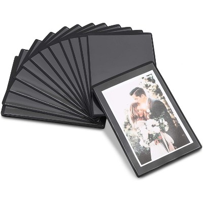 Juvale 15-Pack Magnetic Picture Frames 4x6 Photo Frames with Clear Pocket for Fridge Refrigerator Black