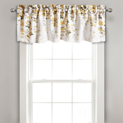 """18""""x52"""" Weeping Flower Valance Yellow/Gray - Lush Décor"""