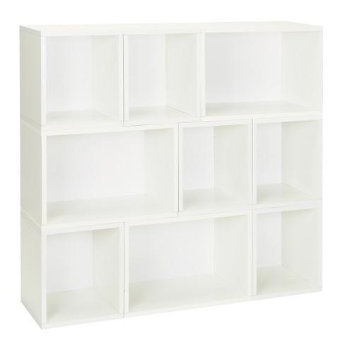 Way Basics Oxford 9 Stackable Cubes Storage - Modular Bookcase, White - Lifetime Guarantee - image 1 of 3