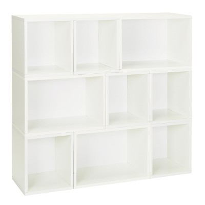 Way Basics Oxford 9 Stackable Cubes Storage   Modular Bookcase, White    Lifetime Guarantee