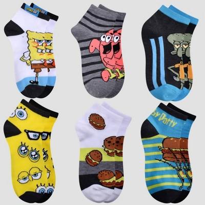 Boys' Spongebob Krabby Patty Socks 6pk - Gray