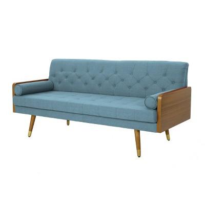 Jalon Mid Century Modern Sofa   Christopher Knight Home