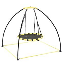 Jumpking JKBK-UFO Backyard 360 Degree Adjustable Height UFO Swing Set, Yellow