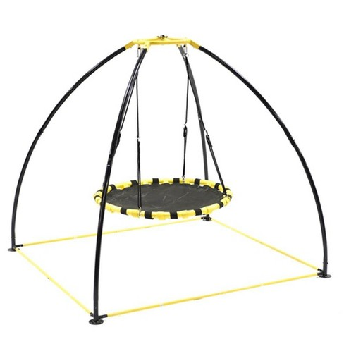 Jumpking JKBK-UFO Backyard 360 Degree Adjustable Height UFO Swing Set, Yellow - image 1 of 4
