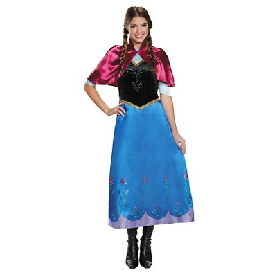 Attractive Disney Womenu0027s Frozen: Anna Traveling Gown Deluxe Costume   Small