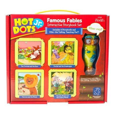 Hot Dots Jr. Famous Fables Interactive Storybook Set with Ollie Pen - Learning Resources